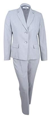 Le Suit Women's Pinstripe 2 Button Pant