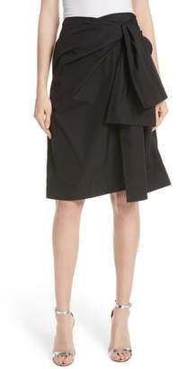 Diane von Furstenberg Tie Front Wrap Skirt