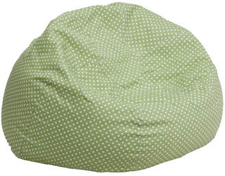 Viv + Rae Polka Dots Cotton Bean Bag Chair