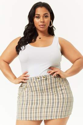 Forever 21 Plus Size Plaid Mini Skirt