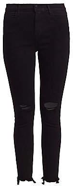 J Brand Women's Alana High-Rise Crop Skinny Distressed Jeans
