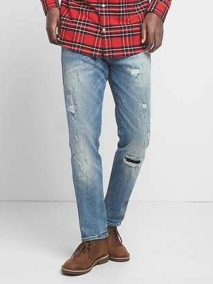 Cone Denim® Destructed Jeans in Slim Fit with GapFlex