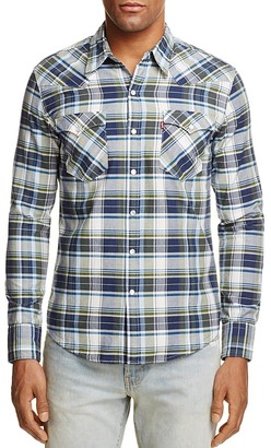 Levi's Barstow Western Plaid Regular Fit Snap Front Shirt $69.50 thestylecure.com