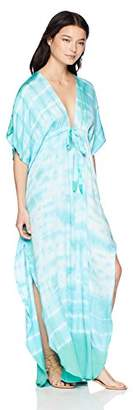 Green Dragon Women's Kimono Sleeve Maxi Kaftan Dress