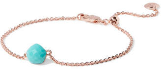 Monica Vinader Nura Mini Nugget Rose Gold Vermeil Turquoise Bracelet