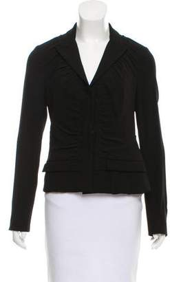 Prada Long Sleeve Peak-Lapel Blazer