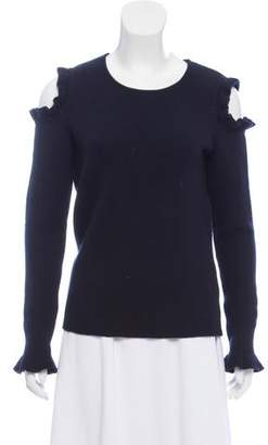 Leroy Veronique Wool Cold-Shoulder Sweater