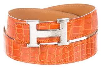 Hermes Crocodile 32mm H Belt Kit