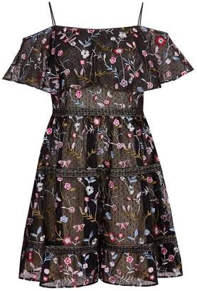 Adrianna Papell Embroidery Party Dress
