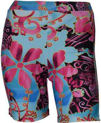 Private Island Hawaii Women UV Rash Guard Skinny Shorts Pants Leggings, Workout Outdoor Yoga/Fitness/Running Clothing (, SwP)