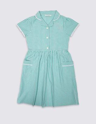 Marks and Spencer Girls' Pure Cotton Striped Dress