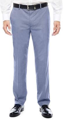 Jf J.Ferrar Men's JF Blue Pattern Flat-Front Slim-Fit Suit Pants