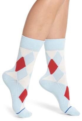 Paul Smith Finella Argyle Crew Socks