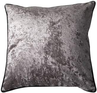 Bivain - Grey Velvet Cushion with Black Piping