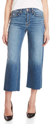 Sneak Peek High-Waisted Cropped Flare Jeans