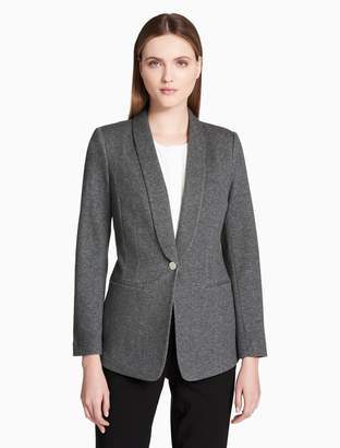 Calvin Klein shawl collar single button jacket