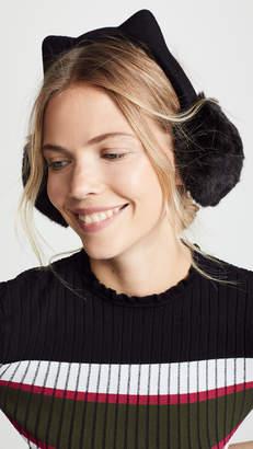 Kate Spade Faux Fur Kitty Ear Muffs