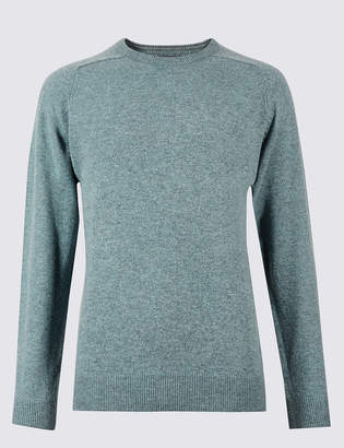 M&S CollectionMarks and Spencer Pure Extra Fine Lambswool Crew Neck Jumper
