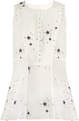 A.L.C. Erin star-print sleeveless silk-georgette top