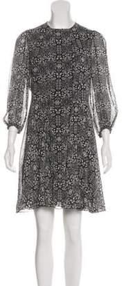Derek Lam Printed Mini Dress Black Printed Mini Dress