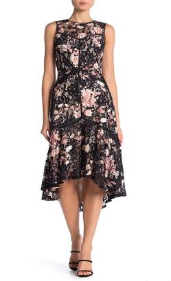 Taylor Printed Lace High/Low Dress