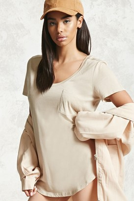 FOREVER 21+ Patch Pocket Tee $5.90 thestylecure.com