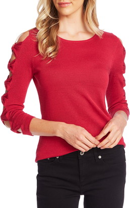 CeCe Bow Sleeve Crewneck Sweater