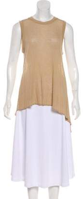 3.1 Phillip Lim Asymmetrical Sheer Sleeveless Top
