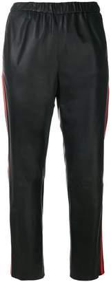 Drome cropped side-stripe trousers