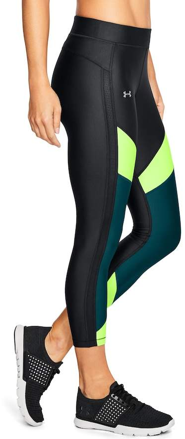 Under Armour Women's Under Armour HeatGear Color Block Ankle Crop Leggings