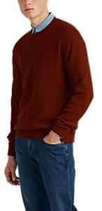 Loro Piana Men's Rib-Knit Cashmere-Silk Sweater - Rust