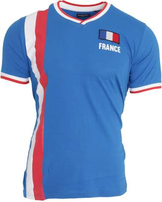 Brave Soul Unisex France Short Sleeve Football T-Shirt (M)