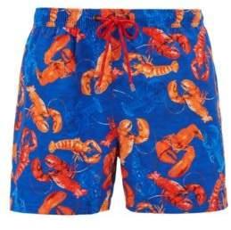 BOSS Hugo Shorter-length swim shorts sea-life print M Open Blue