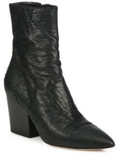 IRO Ladila Leather Point-Toe Block-Heel Boots
