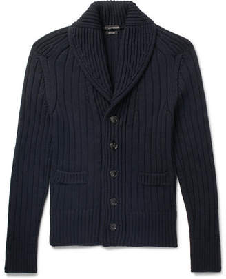 Tom Ford Steve Mcqueen Shawl-Collar Ribbed Wool Cardigan