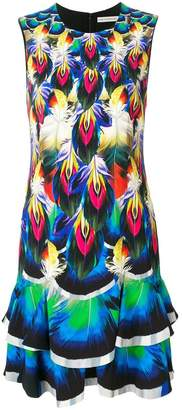Mary Katrantzou printed ruffle hem dress