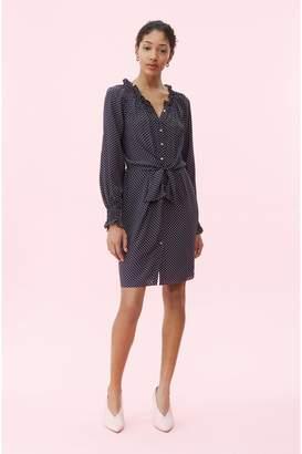 Rebecca Taylor Dot Print Tie Front Dress