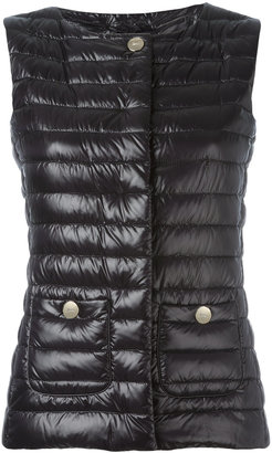 Herno collarless gilet $440 thestylecure.com