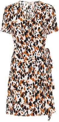 Diane von Furstenberg Savilla crepe printed wrap dress