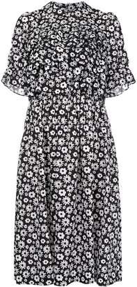 Comme des Garcons floral print ruffled dress