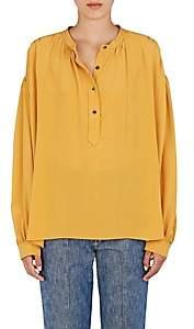 Isabel Marant Women's Kilda Silk Crepe Blouse - Ochre