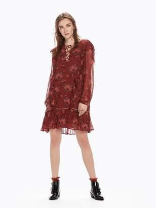 Scotch & Soda Ruffle Printed Dress