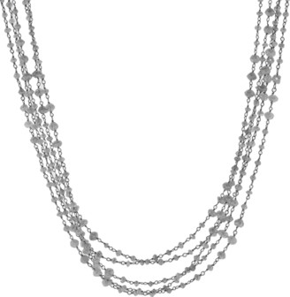 Arunashi Silver South Sea Pearl Wrap Necklace