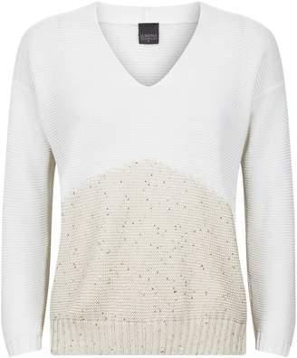 Lorena Antoniazzi Two-Tone Knit Top