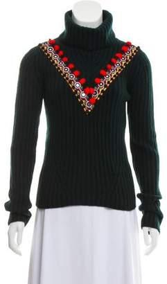 Altuzarra Embellished Wool and Cashmere-Blend Sweater