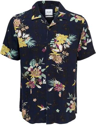 ONLY & SONS Floral-Print Button-Down Shirt