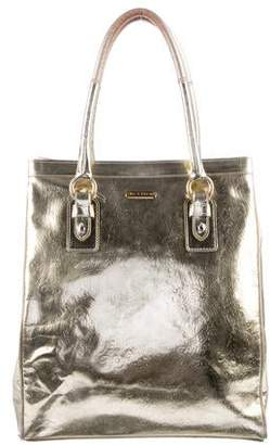 Etro Metallic Leather Tote