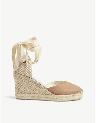 Soludos Linen woven wedge sandals