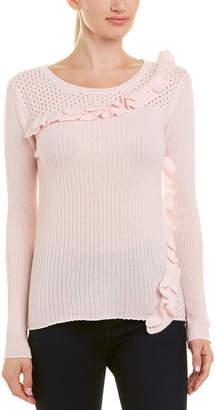Qi Ruffle Trim Cashmere Sweater