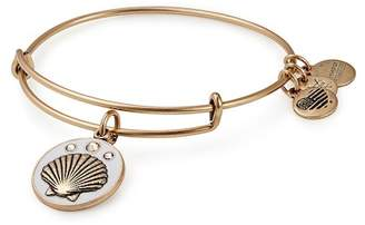 Alex and Ani Color Infusion Shell Charm Wire Adjustable Bracelet